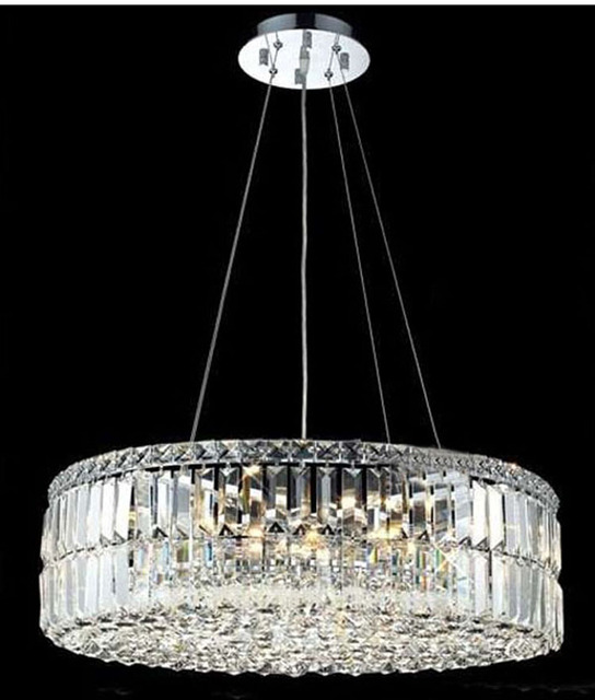 Modern crystal pendant light lighting chrome crystal pendant light modern crystal pendant light lighting chrome crystal pendant light fixture round shape guaranteed 100 mozeypictures Gallery