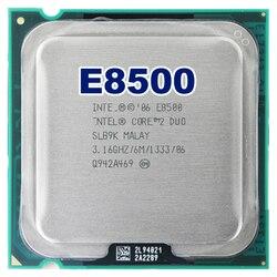 Intel core 2 duo E8500 CPU İşlemci (3.16 Ghz/6 M/1333 GHz) soket 775 ücretsiz kargo anakart cpu combo