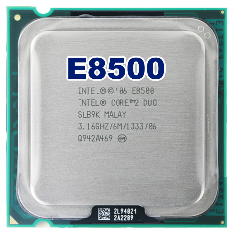 Intel core 2 duo E8500 CPU Processeur (3.16 Ghz/6 M/1333 GHz) Prise 775 livraison gratuite carte mère cpu combo