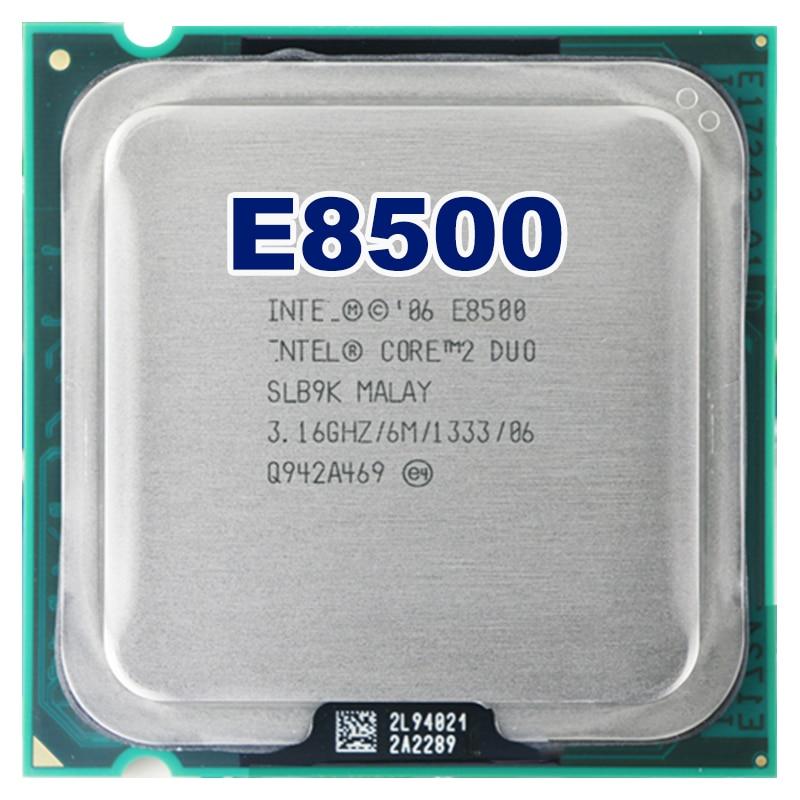 Intel core 2 duo E8500 CPU Processore (3.16 Ghz/6 M/1333 GHz) Presa 775 di trasporto libero della scheda madre cpu combo