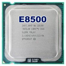 Intel Core 2 Duo e8500 Процессор процессор (3.16 ГГц/6 м/1333 ГГц) socket 775 Бесплатная доставка материнской Процессор комбо