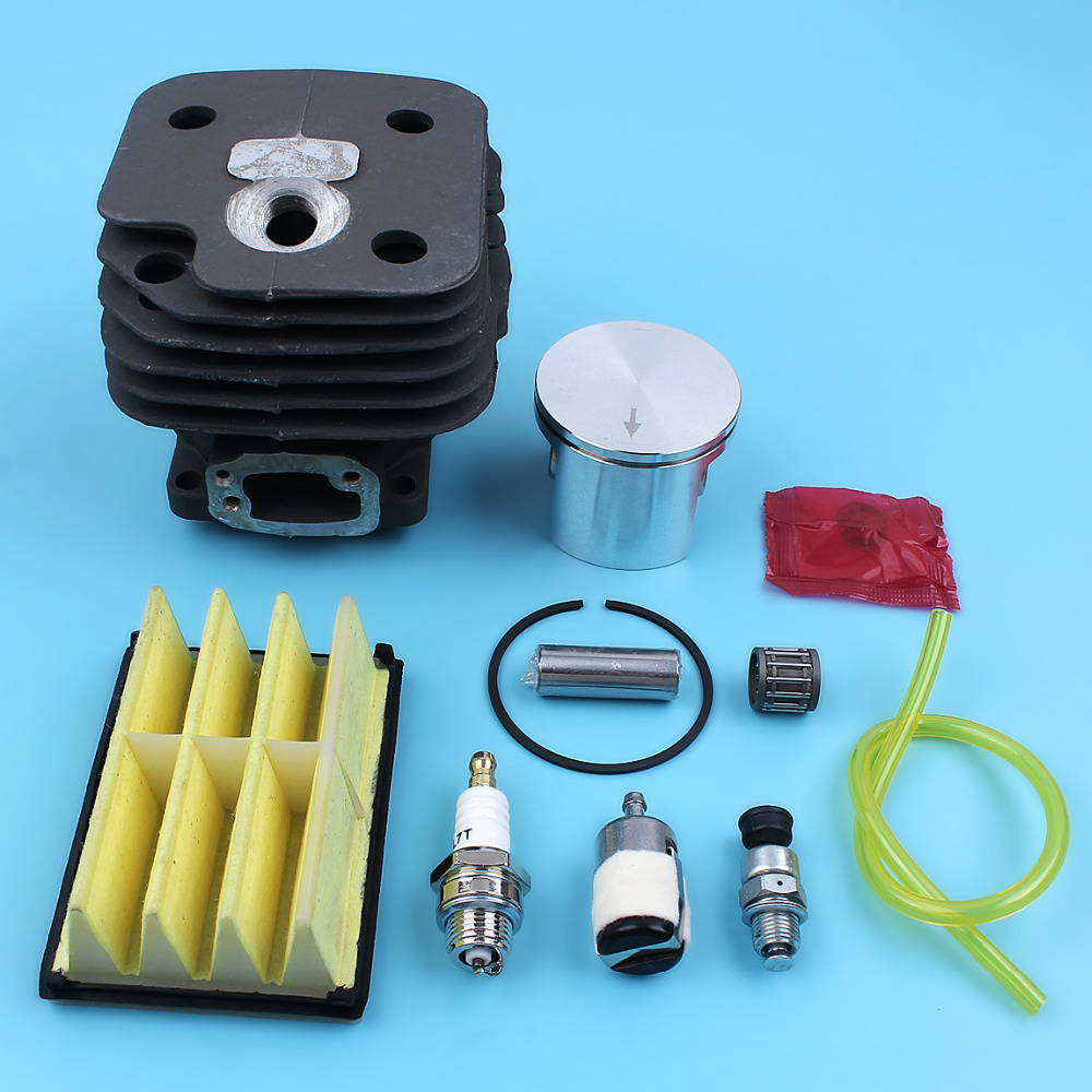 52mm Cylinder Piston Air Fuel Filter Spark Plug Kits For HUSQVARNA 268 272 272XP 272K 272 XP Chainsaw Replacement Spare Parts 52mm cylinder barrel & piston assembly fits husqvarna 268 272 chainsaw part