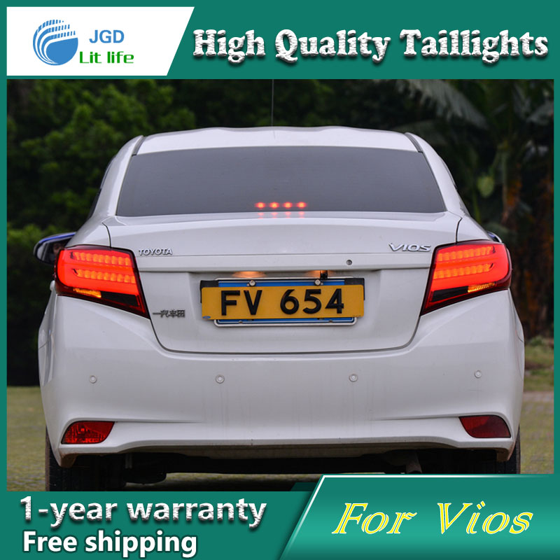 Car Styling Tail Lamp for Toyota Vios taillights Tail Lights LED Tail Light Rear Lamp LED DRL+Brake+Park+Signal Stop Lamp car styling tail lamp for toyota corolla led tail light 2014 2016 new altis led rear lamp led drl brake park signal stop lamp