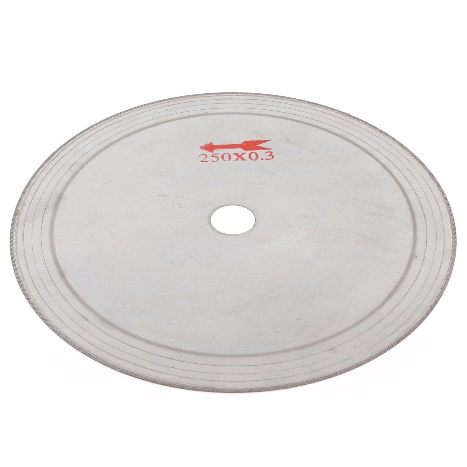 "10/"" inch 250mm Super-thin Diamond Cutting Blade Disc Rim 0.55 Lapidary Saw Stone"