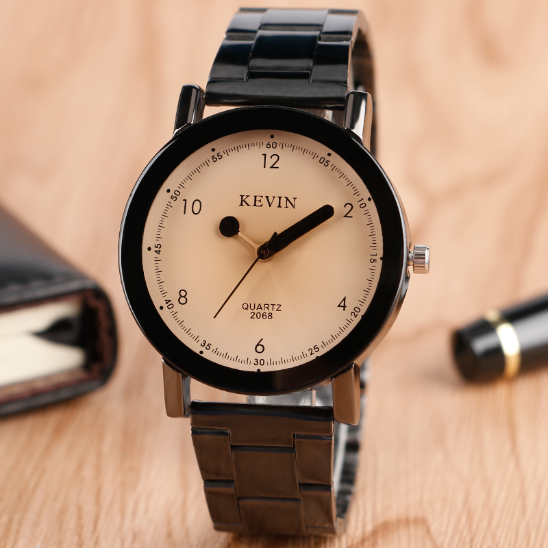 KEVIN Men Watch Classic Matches Sport Wrist Watch Ladies Men Women Quartz Clock Trendy Analog Stainless Steel Band Strap Gift iw 8758g 3 men s and women s quartz watch fabric classic canterbury stainless steel watch with multi color striped band