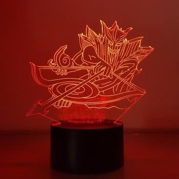 Naruto Sasuke Susanoo 3D Visual Illusion LED RGB Color Changing USB Nightlight Naruto Shippuden Action Figure Sasuke Anime Toy