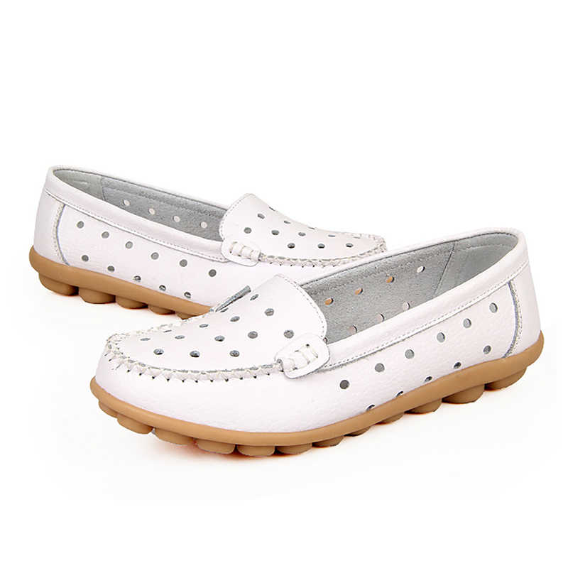Plardin חדש בתוספת גודל 35-42 נשים מגזרות עור אמיתי אמא נעליים נוח תפירת אבזם דירות אחות מזדמן בלט דירות