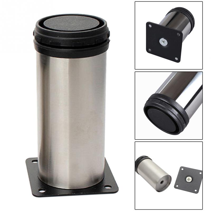 5cm*6/8/10/12cm Height Adjustable Support Stainless Steel Table Bed Sofa Level Feet Kitchen Cabinet Furniture Legs(China)