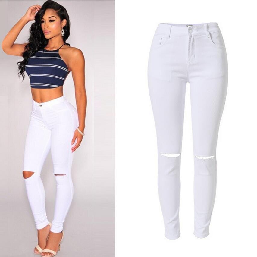 Online Get Cheap White Stretch Skinny Jeans -Aliexpress.com ...