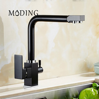 MODING 100 Solid Copper Water Filter Tap Newly Factory Direct Square Swivel Sink Mixer Omosis Ro