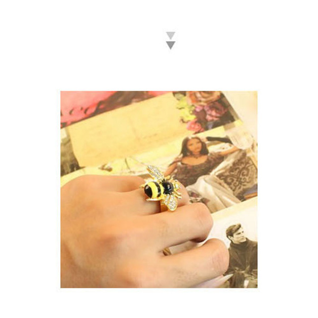 Fashion Small Nice Bee Rings,Adjustable Open Ring for Women Jewelry Wholesale Free Shipping R39