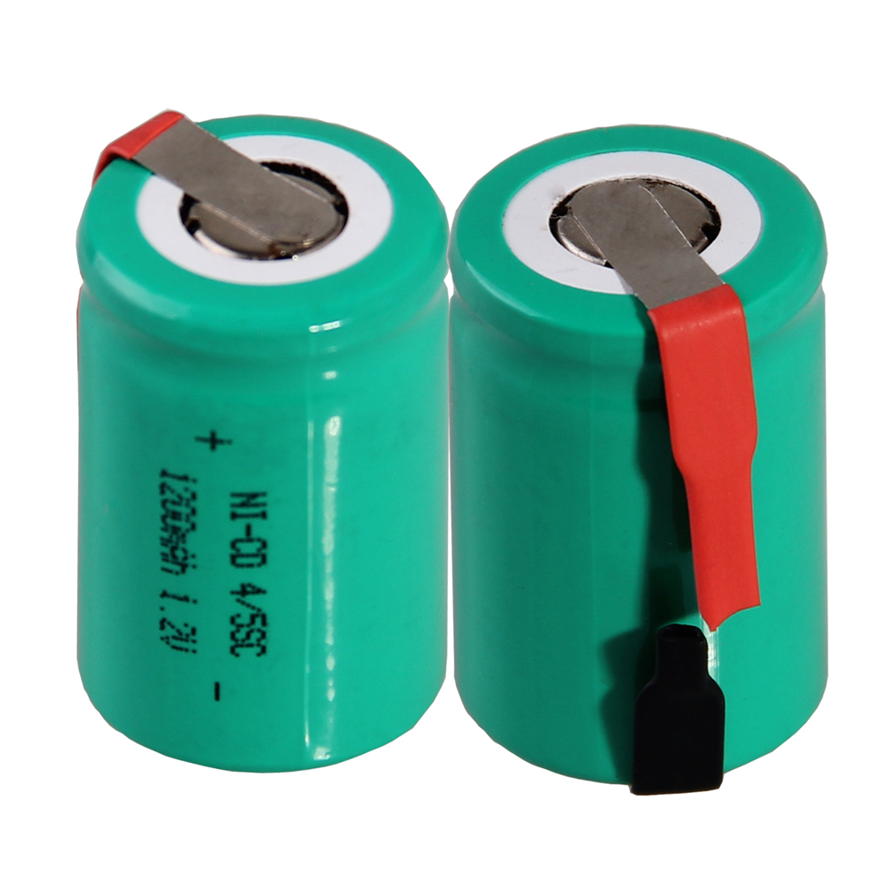 2 pcs 4/5SC 1200mah 1.2v battery NICD rechargeable batteries for emergency light toy equipment power for electric screwdriver