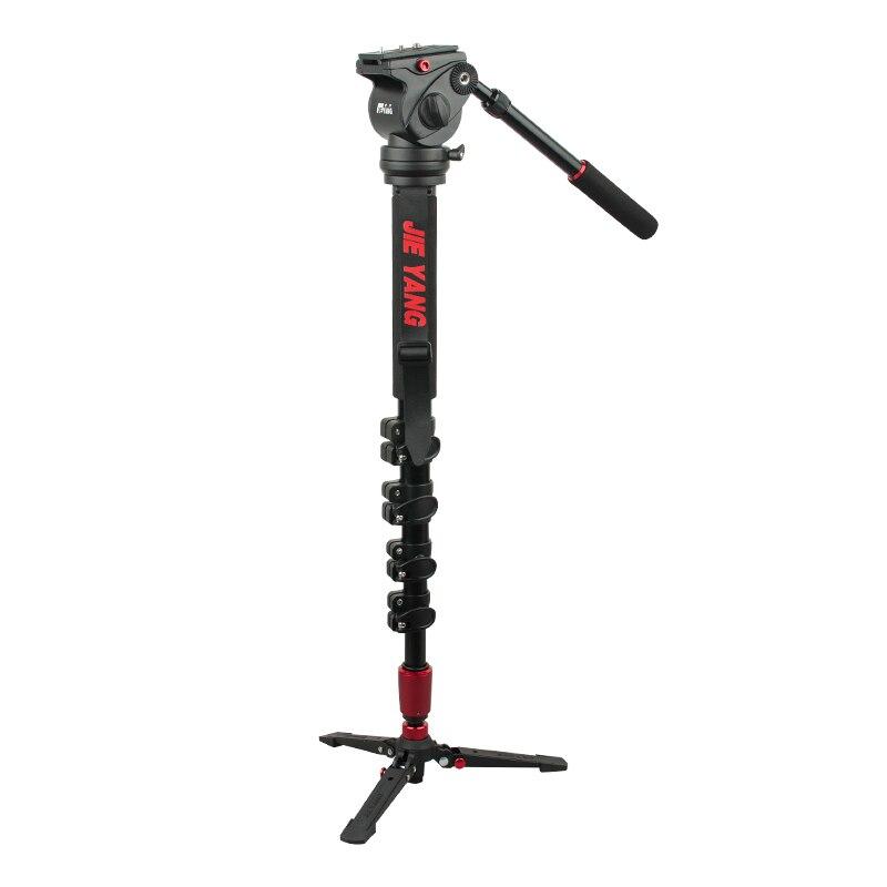 JieYang JY0516 углеродное волокно профессиональный монопод для видео и Камера/Штатив для видео/штативы Жидкости Глава демпфирования аксессуары