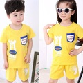 Kindstraum 2017 New Children Clothing Sets Boys & Girls T-shirt + Shorts Cartoon Wear Summer Cotton Casual Suits for Kids,RC517