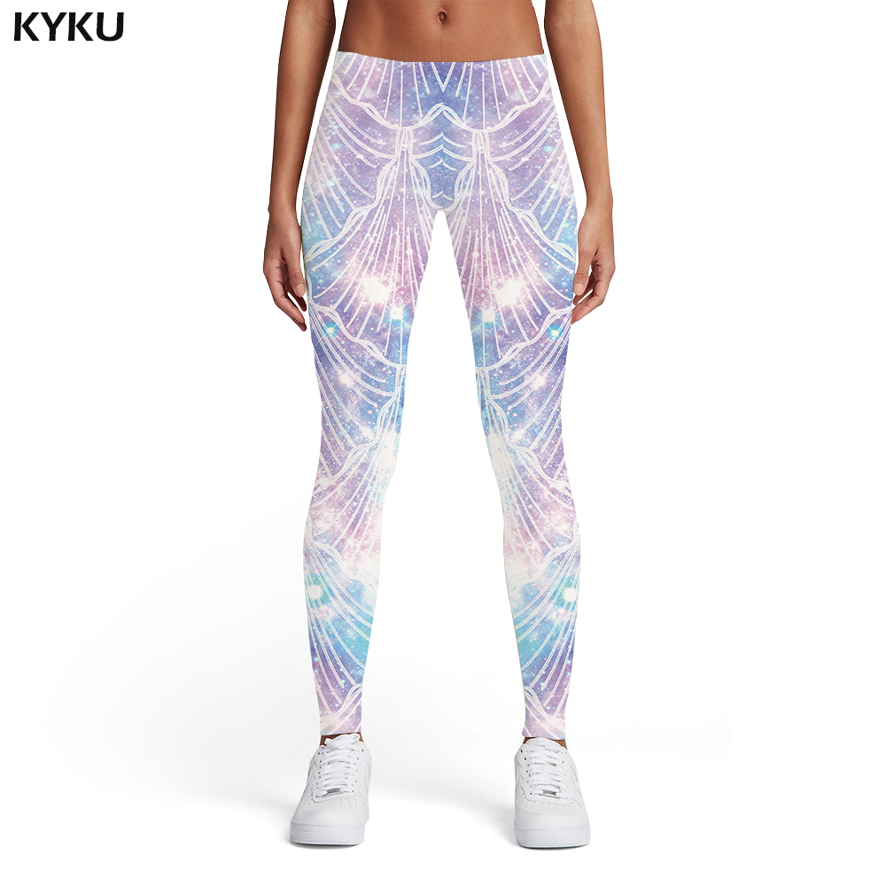 KYKU Psychedelic Leggings Women Fireworks 3d Print Space Sexy Colorful Printed Pants Gothic Sport Womens Leggings Pants