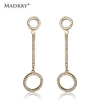 f4c230c096ec Madrry línea de moda pendientes de círculo redondo para las mujeres las  niñas Piercing en la oreja Aretes Orecchini Gioielli de Metal de cobre  antialérgico