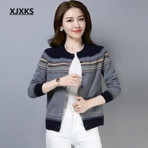 Image 5 - XJXKS pull over, printemps, Cardigan pour femme, manteau, veste tricotée, pull doux et confortable, nouvelle collection 2019