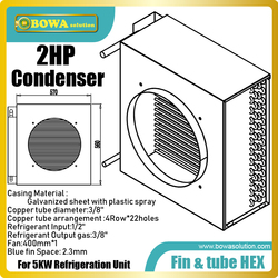 2HP fin & tube heat exchanger is great choice for air dryer, freezer dryer,dehumdifier and heat pump clothes dryers as condenser