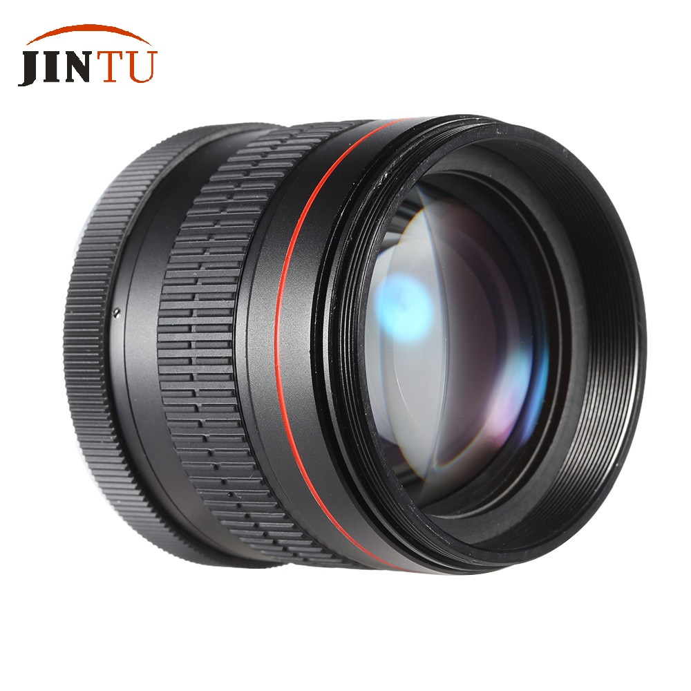 JINTU 85mm f/1.8 Portrait Aspherical Manual Focus Telephoto Lens For Canon EOS 650D 750D 700D 550D 600D 80D 70D 60D 60Da 50D 85mm f1 8 aluminum alloy manual focus lens set for canon black