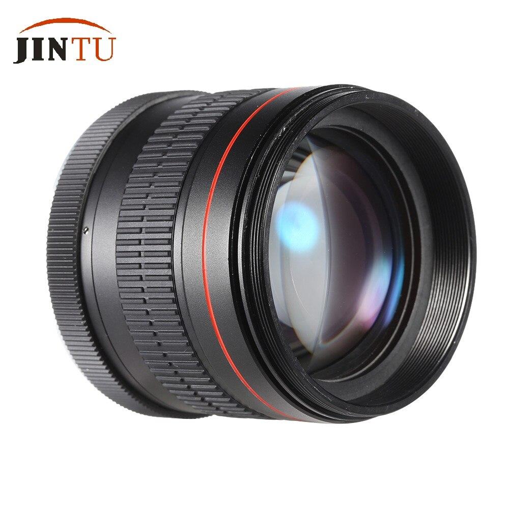 JINTU 85mm f/1.8 téléobjectif Portrait asphérique à mise au point manuelle pour Canon EOS 650D 750D 700D 550D 600D 80D 70D 60D 60Da 50D