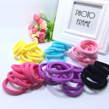 100pcs/lot Handmade Seamless Ponytail Holder Elastic Hair Bands For Kids Girls Headdress Hair Accessories Strong Hair Gum