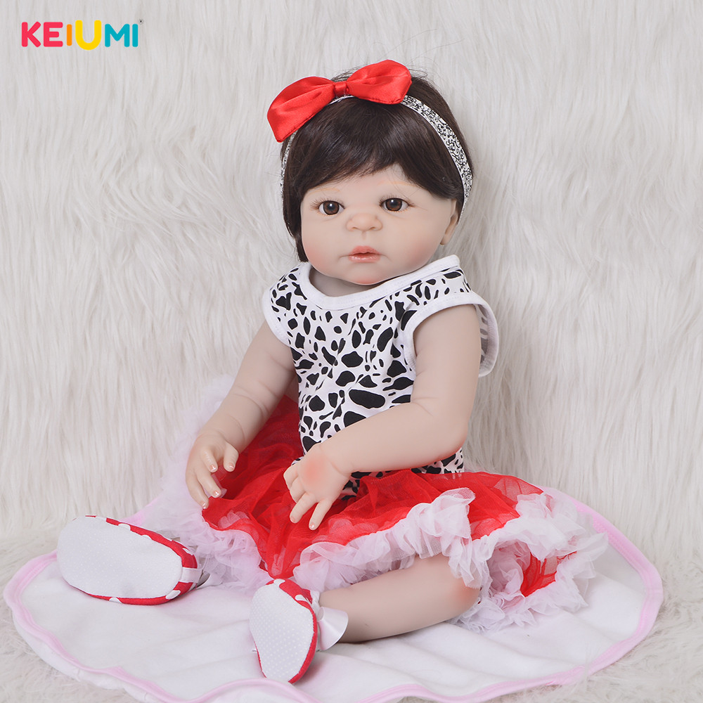 Collectible 57 cm Reborn Dolls For Girl 23 inch Full Silicone Newborn Doll Fashion Kids Gift Realistic Reborn Christmas GiftCollectible 57 cm Reborn Dolls For Girl 23 inch Full Silicone Newborn Doll Fashion Kids Gift Realistic Reborn Christmas Gift