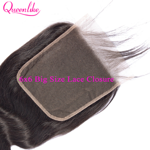 Image 4 - Queenlike Body Wave 6x6 Closure Pre Plucked With Baby Hair Natural Hairline Brazilian Remy Hair Big Lace Size Swiss Lace Closure