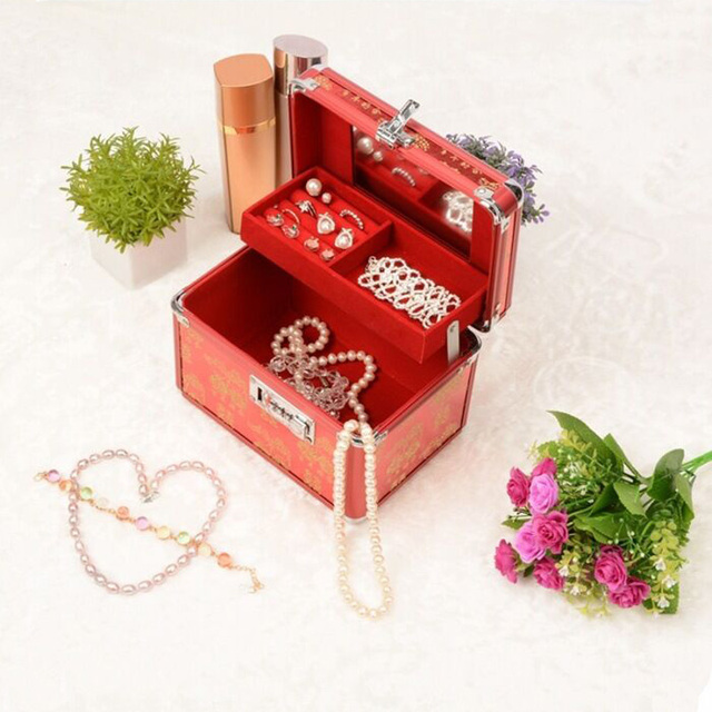Chinese Style Fashion Jewelry Storage Box Marriage Gift Box Red
