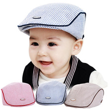 521039e4c03 Baby hats Cute Baby Infant Boy Girl Stripe Beret Cap Peaked Baseball Hat  dropship ma30m30(