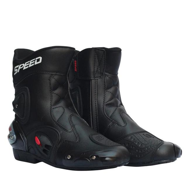 אופנוע מירוץ מגפי עור עמיד למים רכיבה נעלי מיקרופייבר אופנוע מוטוקרוס מחוץ לכביש מגן הילוכים Moto מגפיים