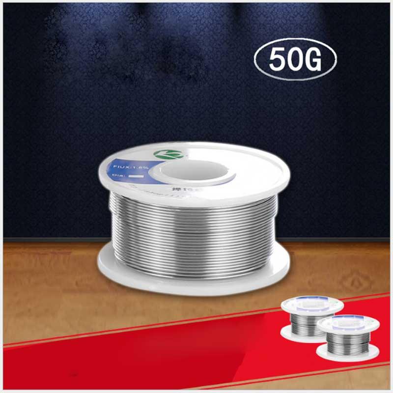 Alta calidad 50g soldadura Alambre de soldadura 0.6mm ~ 1.0mm estaño componentes soldadura estaño alambre