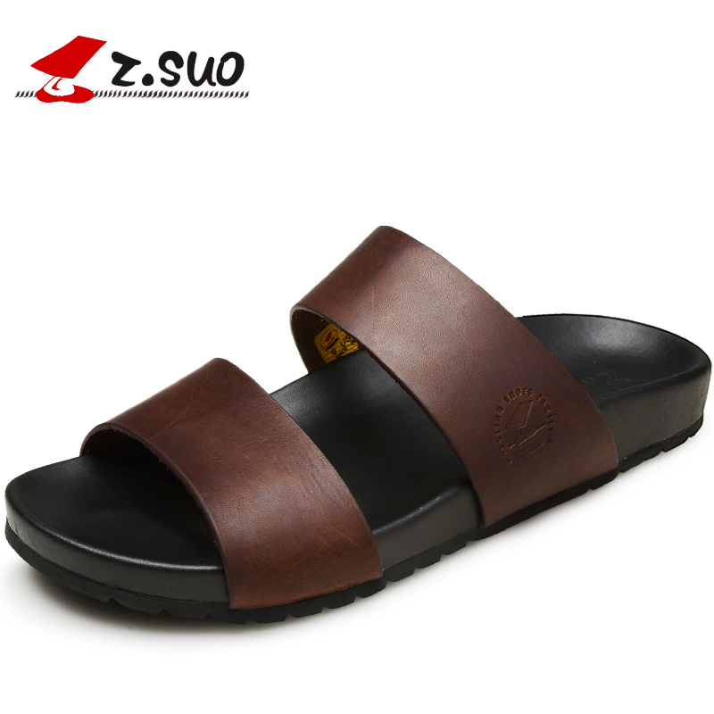 ec094b7c874 Detail Feedback Questions about 2017 New Designer Cow Leather Summer Men  Slides Rubber Slippers Mens Flip Flop Sandals Beach Shoes Man Chanclas De  Hombres ...