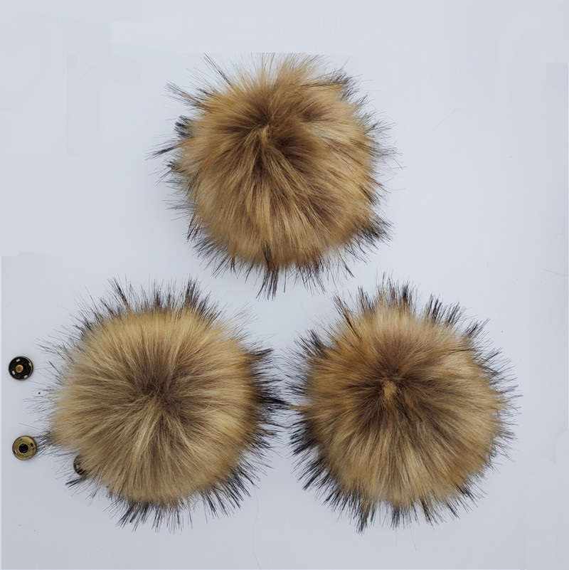 Winter Fluffy Imitated Polyester Fur Pompoms For   Beanies   Caps 15cm Artificial Pom poms For Knitted   Skullies   Hats Bags Keychain