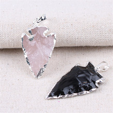 Female Pendant Stone Obsidian Arrow Pendants Crystal Jewelry Natural Agates Personality