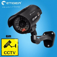 Etiger Waterproof Dummy CCTV Camera With Flashing LED For Outdoor or Indoor Realistic Looking Fack Camera for Security