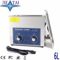 JIETAI Mechanic Ultrasonic Cleaner Bath 6L 180W 40kHz Ultrasonic Cleanning Machine