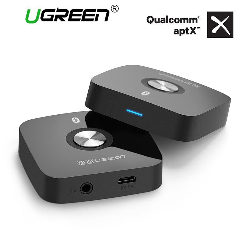 Ugreen 4.2 Ricevitore Senza Fili di Bluetooth 3.5mm Aux ricevitore Stereo Audio Ricevente di Musica di Bluetooth Audio Adattatore per Auto Aux Ricevitore