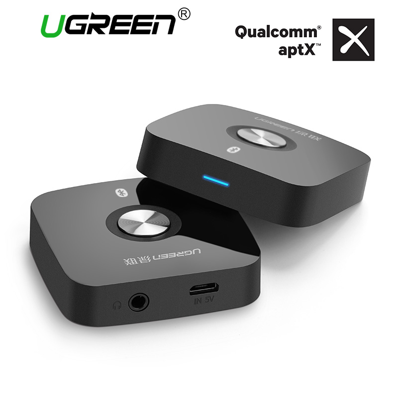 Ugreen 4,2 receptor inalámbrico Bluetooth 3,5mm Aux Audio receptor de música estéreo Adaptador de Audio Bluetooth Car Aux receptor