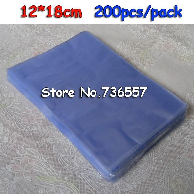 12x18cm 200pcs Pvc Heat Shrink Bags Packaging Bags Shrink Film Membrane Plastic Film