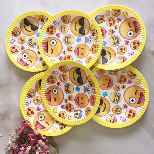 30 Teile Paket Nette Emoji Pappteller Baby Dusche Thema Partei Gerichte Birthday Party Kids