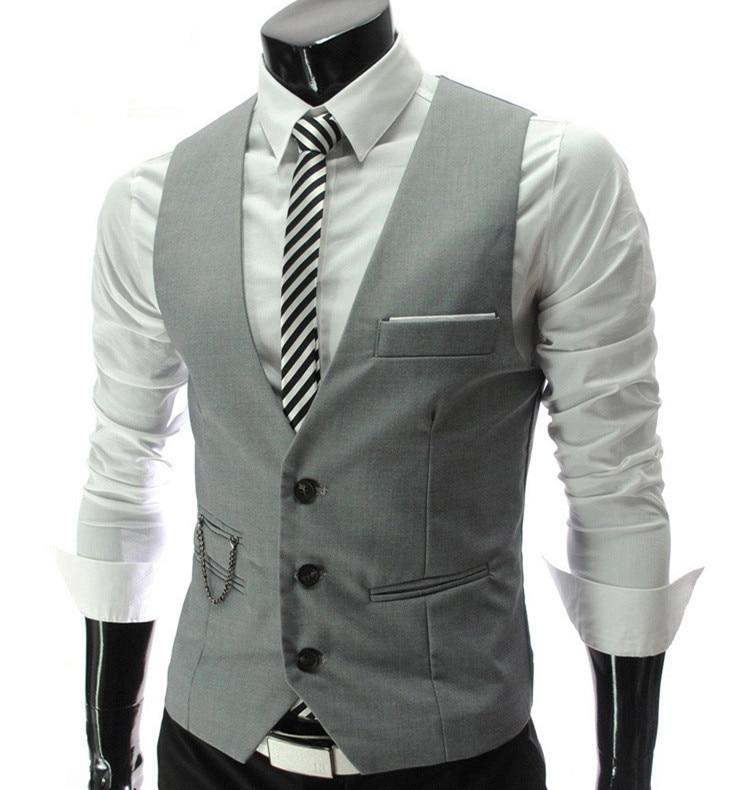 2016 NEW Men's clothing Business Blazers Sleeveless Waistcoats Slim fit male Vests Formal Suits Vest Plus size M-3XL MQ219
