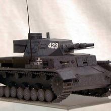 Германия Вторая мировая война PANZER кампфваген IV Танк 3D бумажная модель DIY
