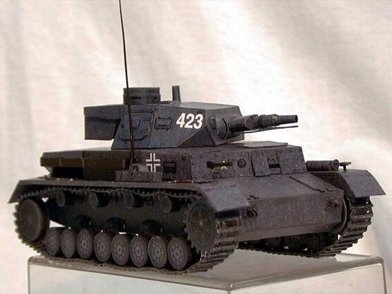 Germany World War II PANZER KAMPFWAGEN IV Tank 3D Paper Model DIY