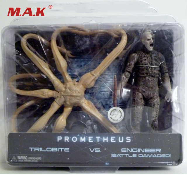 New  Action Figure Model Toys Reel Prometheus Trilobite VS. Engineer Bnip Model Gifts Toys For Children Collections