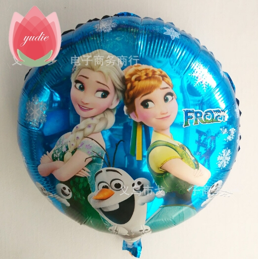 Free Shipping 18inch Foil anna Cartoon Balloon Float air balls baloons Wedding birthday party decoration Kids Inflatable Toys
