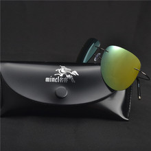 42dfe0f920094 MINCL plarized Óculos De Sol Dos Homens Da Marca de Luxo Designer Óculos de  Sol Para O Sexo Masculino de Memória Ultra-leve Sem .