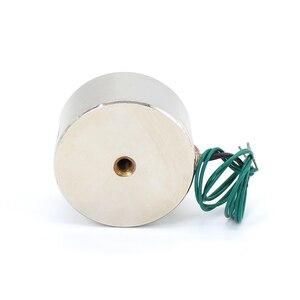 Image 4 - 50/27mm شفط 50 كيلوجرام 500N dc 5 فولت/12 فولت/24 فولت مصغرة الملف اللولبي الكهربائية رفع الكهربائية المغناطيس القوي حامل كأس diy 12 فولت