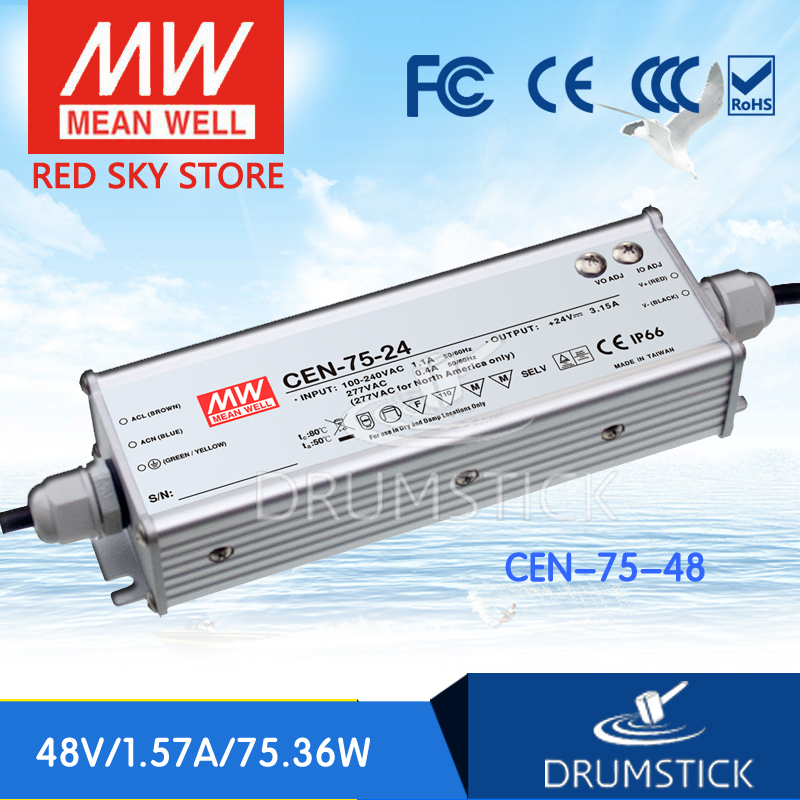 Advantages MEAN WELL CEN-75-48 48V 1.57A meanwell CEN-75 48V 75.36W Single Output LED Power Supply advantages mean well rps 75 48 48v 1 6a meanwell rps 75 48v 76 8w single output medical type
