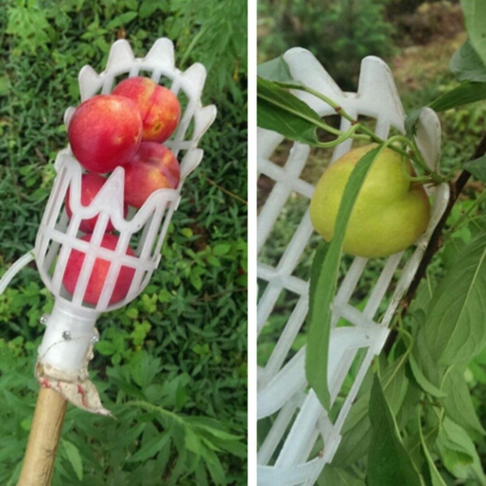 Atrapafruta práctica naranja recogida seguridad PP Kiwi plástico fruta Picker melocotón pera frutas herramienta de recogida de invernadero Mini invernadero cobertizo jardín invernadero exterior hogar aislamiento plantación invernadero 3 tamaños