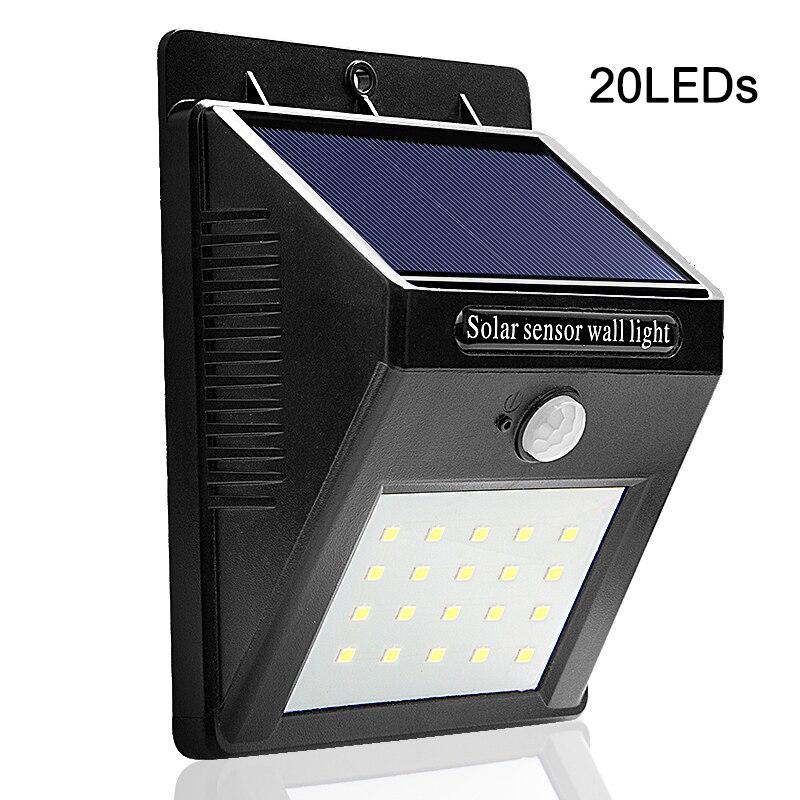 LED Solar Lamp PIR Motion Sensor Solar Power Waterproof LED Night Light Outdoor Garden Light Pathway ABS Wall Lamp Solar Light